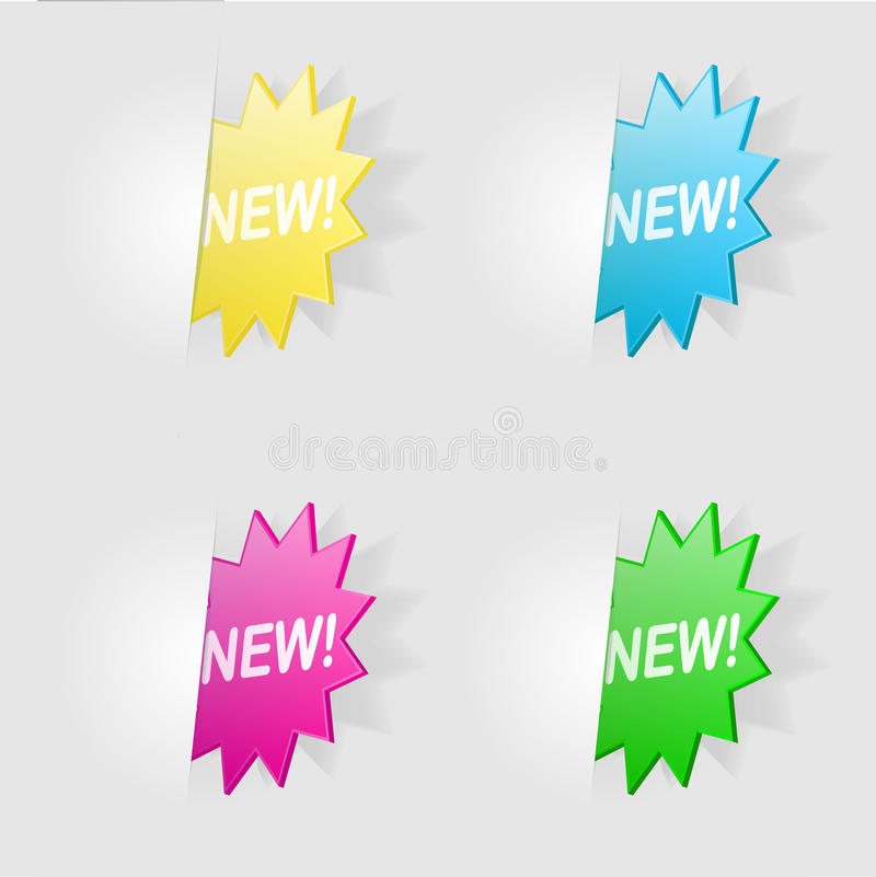 Download New! stock vector. Image of star, retail, labels, sale - 22153410