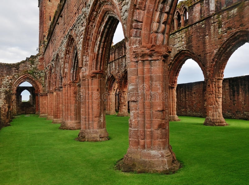 Download New Abbey, Scotland stock image. Image of gothic, arches - 16299109
