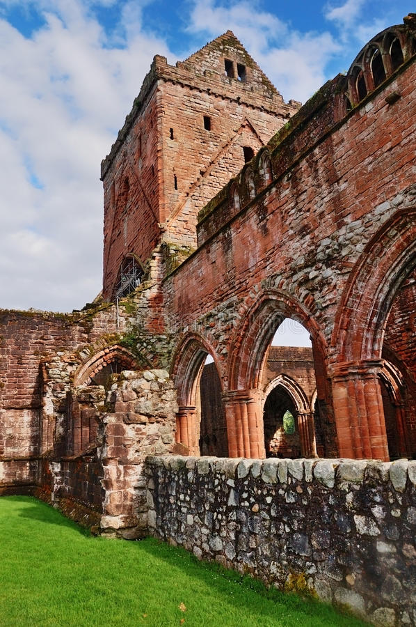 Download New Abbey, Scotland stock image. Image of tower, dumfries - 16299115