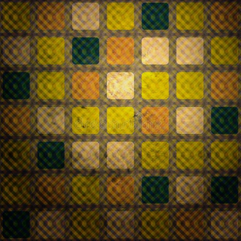 Illusion squares vector illustration