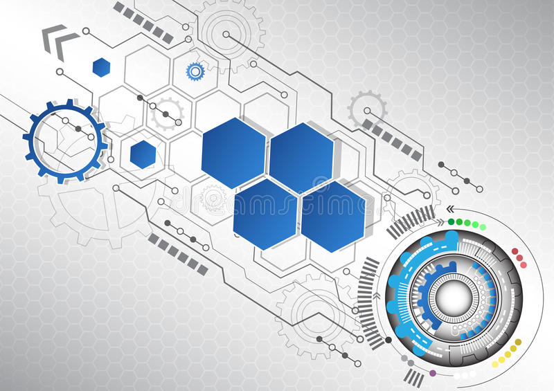 New abstract technology business background, vector illustration. Innovation vector illustration