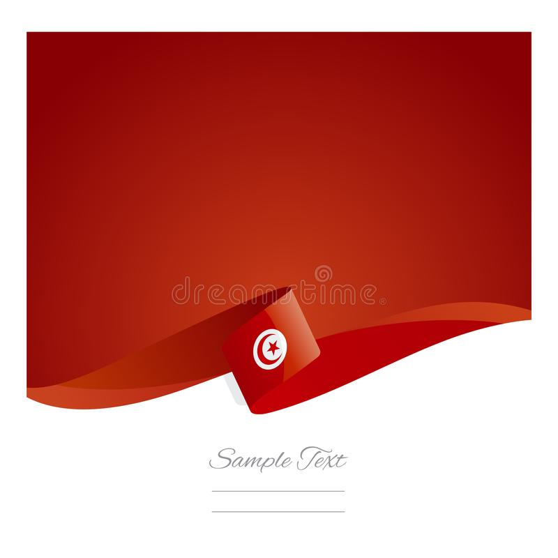 New abstract Tunisian flag ribbon banner vector illustration