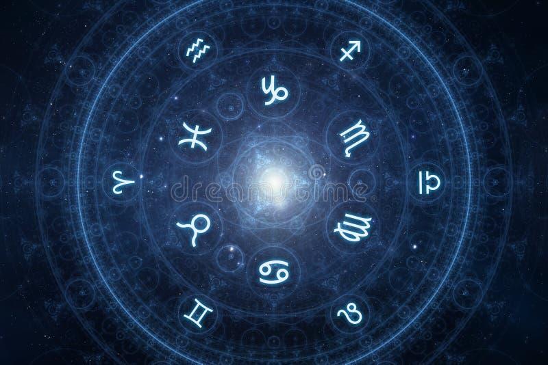 New age horoscope signs stock illustration