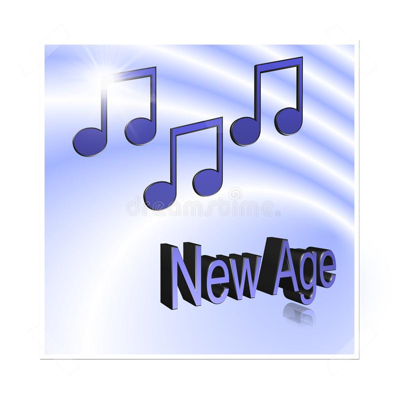 New Age Music - 3D illustration: symbol image for music, entertainment and culture. New Age Music - 3D illustration, 3D Rendering: symbol image for music vector illustration