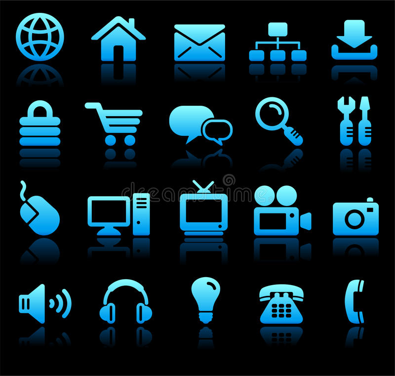 New Age Technology Icons Collection stock illustration