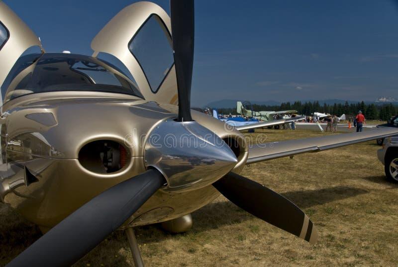 New airplane royalty free stock photos