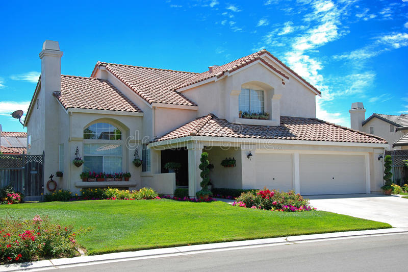 New American Dream Home Royalty Free Stock Images