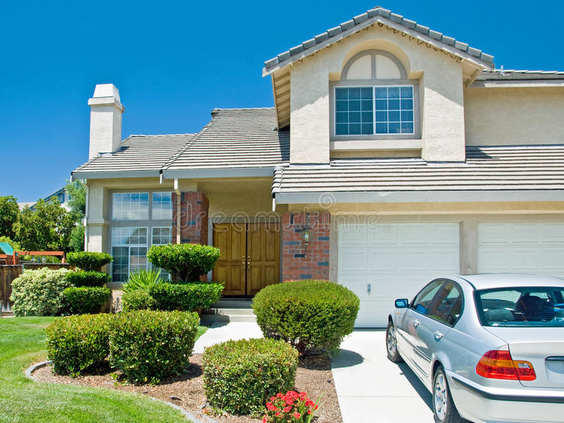 Download New American dream home stock image. Image of estate - 18401161