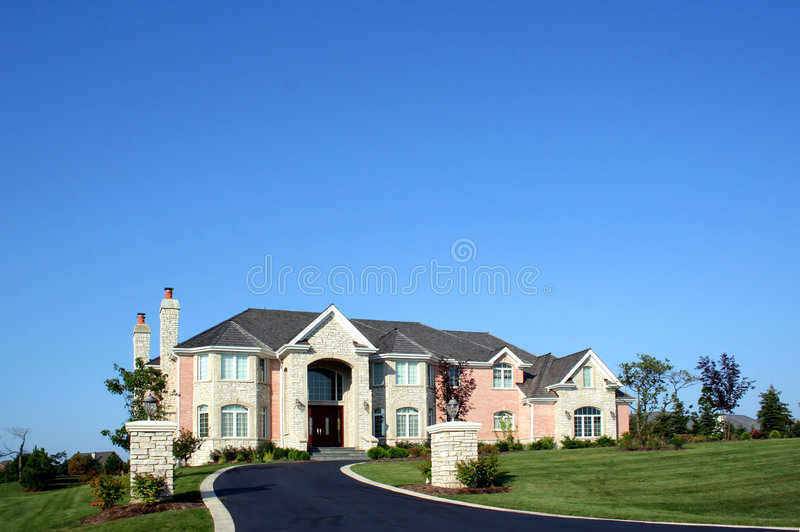New american house stock photos