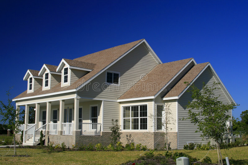 New American-Style Home stock photo