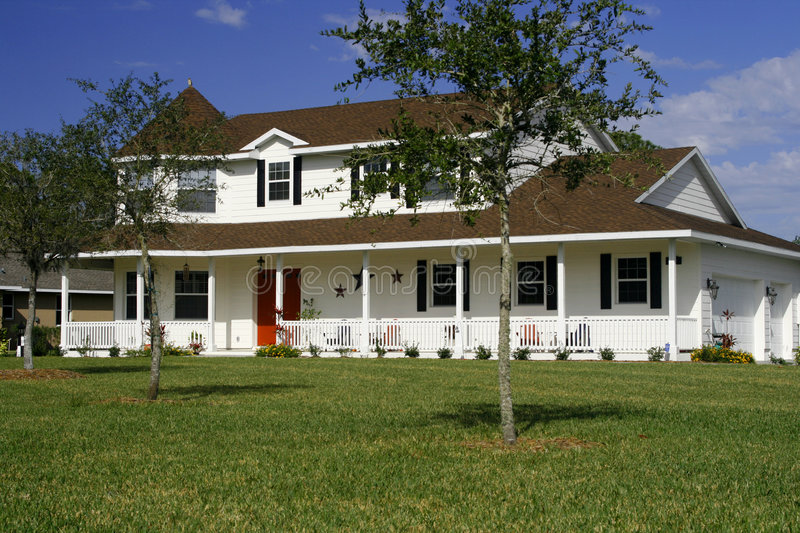 New american style home stock image image of front for New american house style