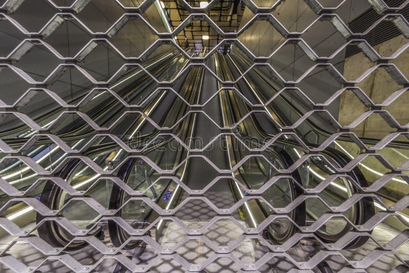 New Amsterdam closed Metro elevator royalty free stock photography
