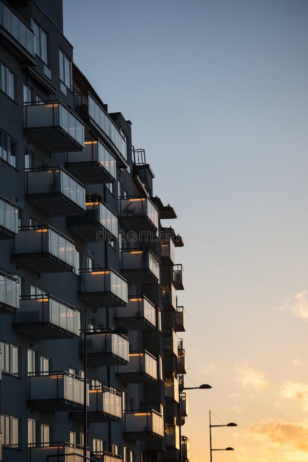 New apartment block. Newly built apartment block on Kungsholmen, Stockholm, Sweden stock images