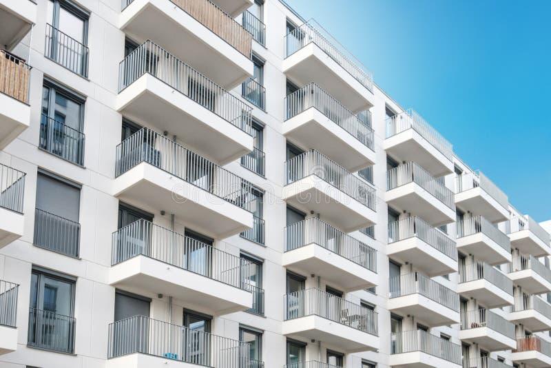 New apartment building exterior, real estate facade.  stock photography