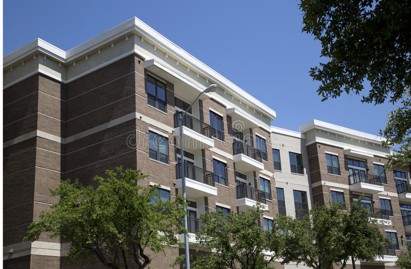 New apartment buildings in modern city. New apartment buildings in city downtown ,TX USA stock images