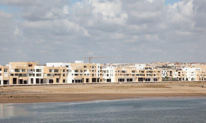 New apartment buildings in Rabat stock photo
