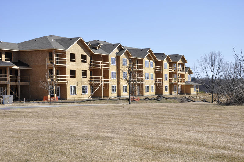 New apartment construction stock photos