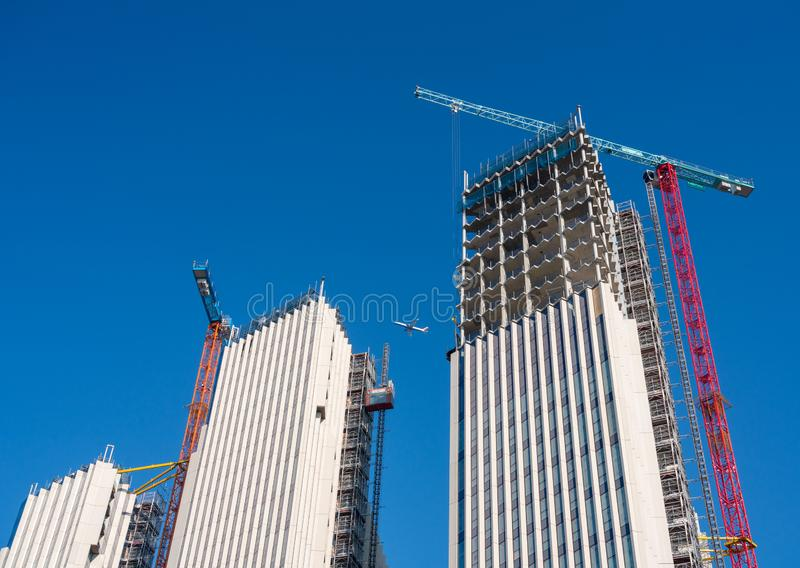 New apartments and flats under construction at Greenwich Millenium royalty free stock image