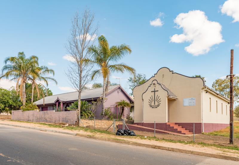 New Apostolic Church in Clanwilliam. CLANWILLIAM, SOUTH AFRICA, AUGUST 22, 2018: The New Apostolic Church in Clanwilliam in the Western Cape Province royalty free stock images