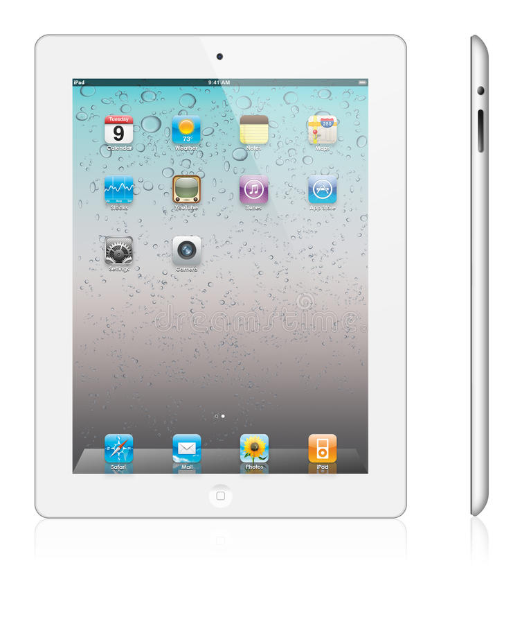 Download New Apple IPad 2 White Version Editorial Stock Image - Image: 18635284