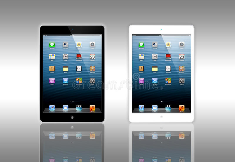 New Apple iPad Mini vector illustration