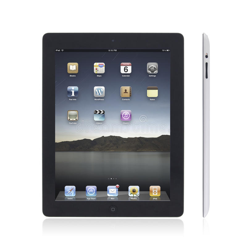 Download New Apple iPad2 editorial stock photo. Image of glass - 19979403