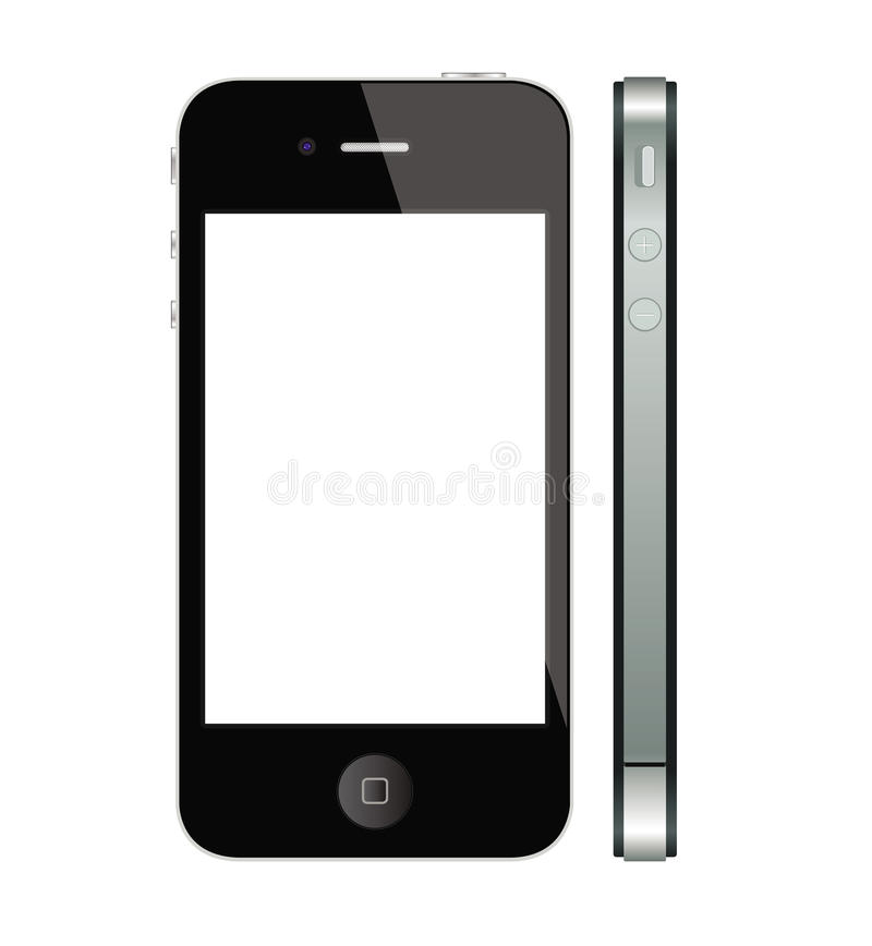 New Apple Iphone 4 and 4S. This image represents the new Apple Iphone 4 th generation royalty free illustration