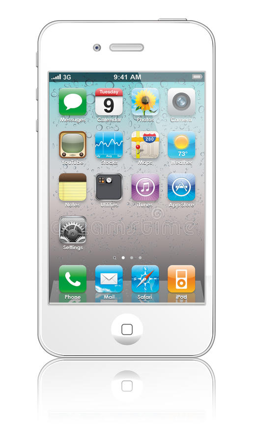 free iphone 4s new apple iphone 4s white editorial stock image image 10644
