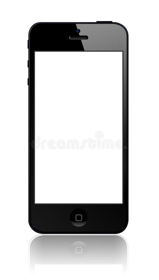 New Apple iPhone 5. Llustration of new Apple iPhone 5 empty screen