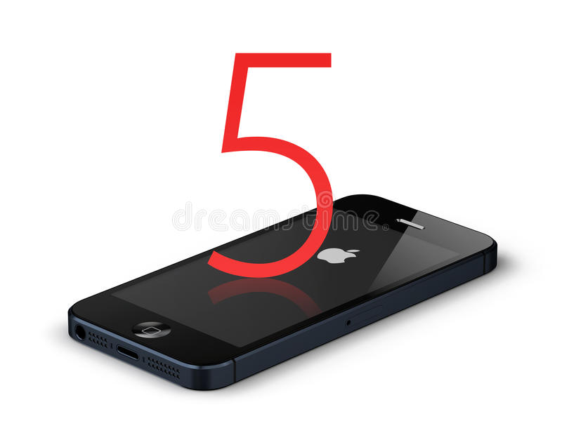 New apple iphone 5 stock images