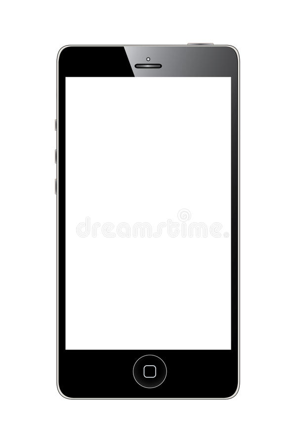 New Apple iPhone 5. An illustration of the next generation iPhone stock illustration