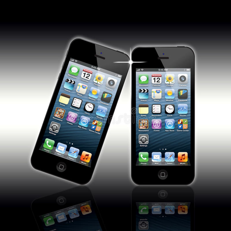 Download New Apple Iphone 5 editorial photo. Image of latest, email - 26932566