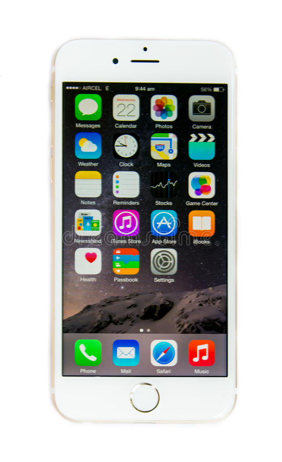 new iphone 6 screen new apple iphone 6 with ios 8 screen display isolated 8321