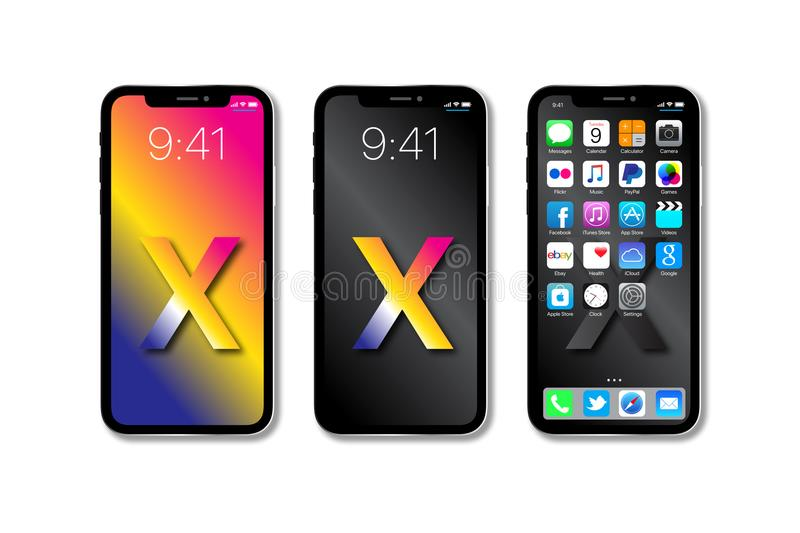 New Apple iPhone X 10. The new Apple iPhone X launched in September 2017 has a A11 Bionic chip with 64-bit architecture, 12MP wide-angle and telephoto cameras