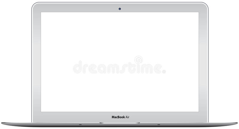 New Apple MacBook Air stock illustration