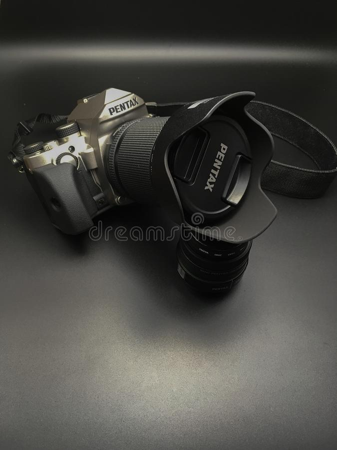 Pentax KP. The new APS-C Pentax Kp with a 16-85 Pentax WR lens royalty free stock image