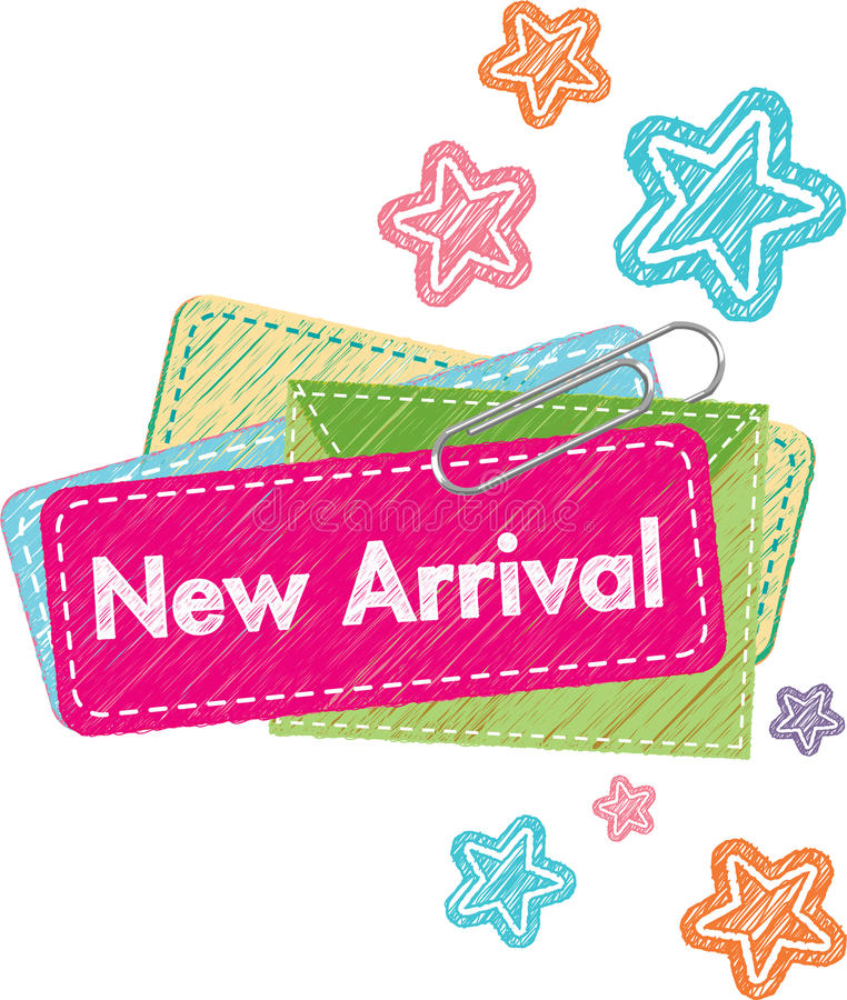 New Arrival Label. Illustration graphic style for New Arrival label royalty free illustration