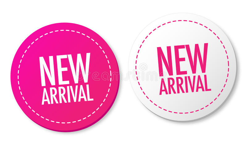 New arrival stickers stock illustration