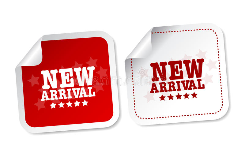 New arrival stickers royalty free illustration