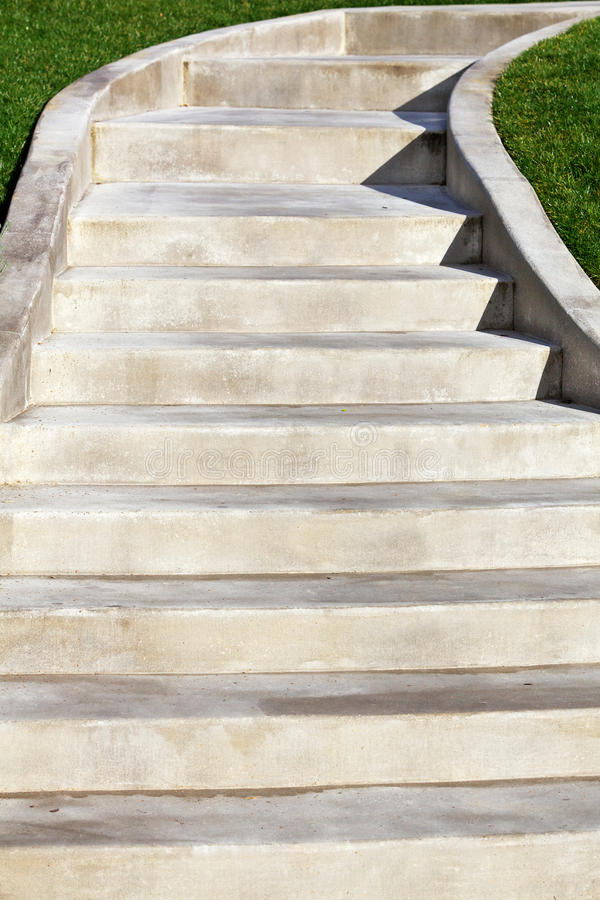 New Ascending Concrete Staircase Royalty Free Stock Photography