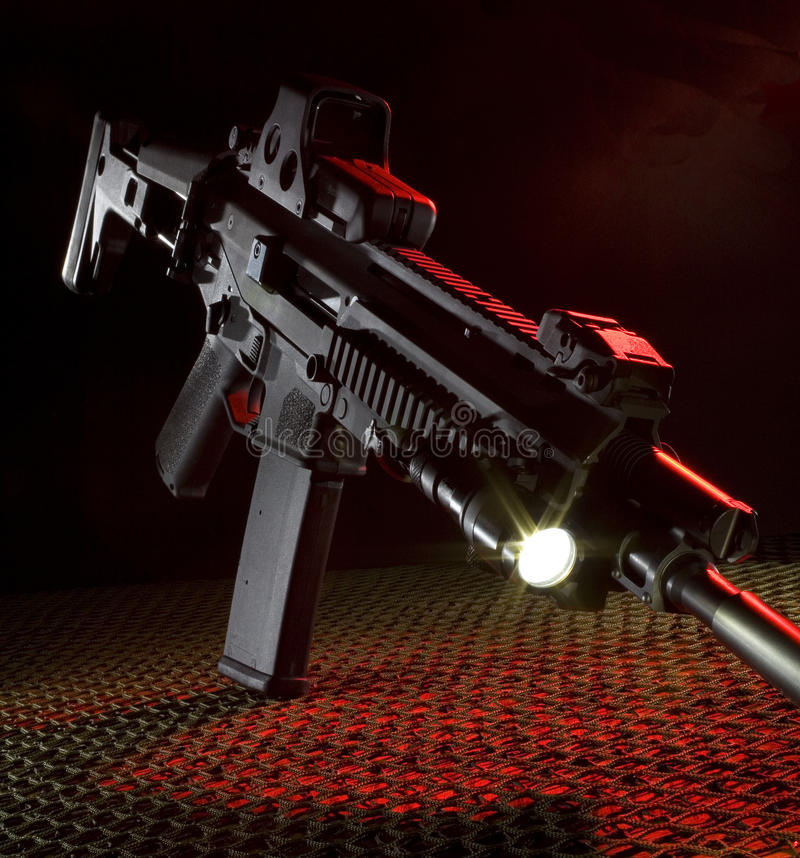 New assault rifle stock image