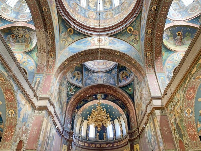 New Athos, Abkhazia, August, 09. 2019. New Athos monastery. Abkhazia. Interiors royalty free stock photo