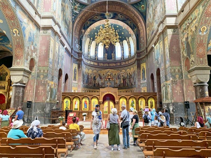 New Athos, Abkhazia, August, 09. 2019. New Athos monastery. Abkhazia. Interiors royalty free stock image