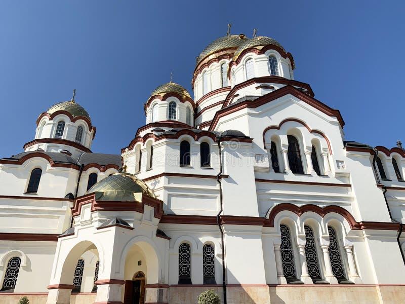 New Athos monastery, St. Panteleimon Cathedral. Abkhazia.  royalty free stock images