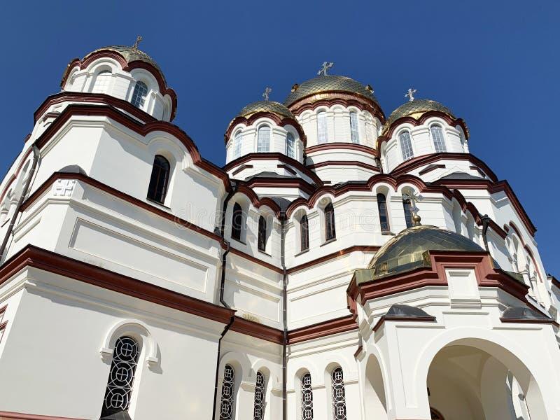 New Athos monastery, St. Panteleimon Cathedral. Abkhazia royalty free stock photography