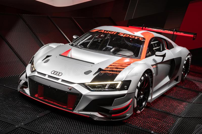 New Audi R8 LMS GT3 race car royalty free stock photo