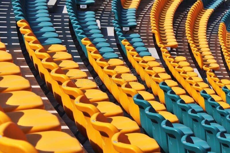 new auditorium seats stock images