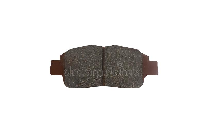 New auto brake pad isolated on white background royalty free stock images