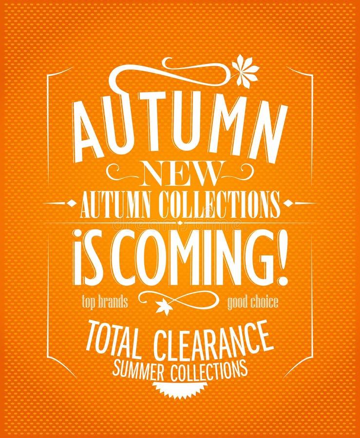 New autumn collections stock illustration
