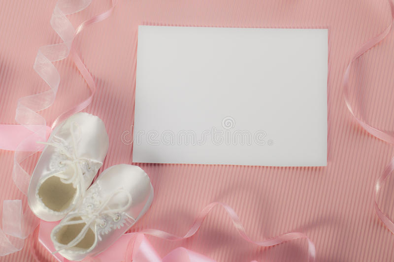 New baby announcement royalty free stock image